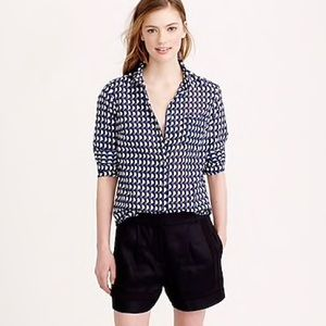 J Crew Boy Shirt In Jet-Set Geo